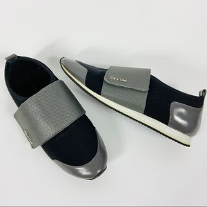Calvin Klein sporty Velcro sneakers running shoes.